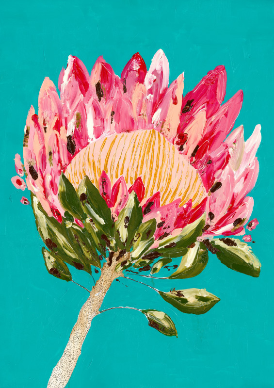 Grotti Lotti_protea party_turquoise